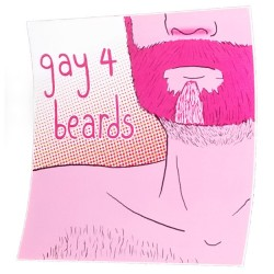 Sticker - Gay 4 Beards