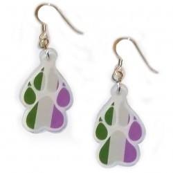 Earrings - Genderqueer Paw