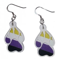 Earrings - Nonbinary Paw