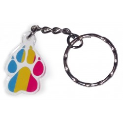 Charm/Keyring - Pansexual Paw