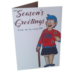 Greetings Card - She with Glee!!