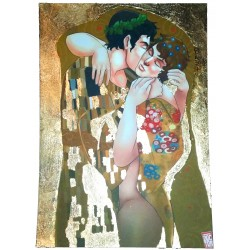 A4 Print - Klimt Kisses, with Goldleaf
