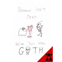 Greetings Card - Goth Romance