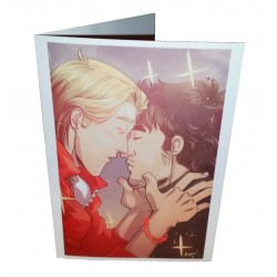 Greetings Card - Get Your Man, Kissing