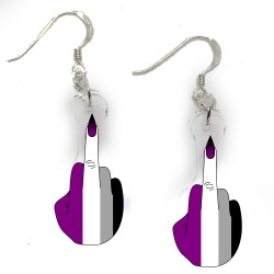Earrings - Asexual Finger