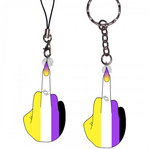 Charm/Keyring - Nonbinary Finger