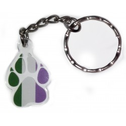 Charm/Keyring - Genderqueer Paw